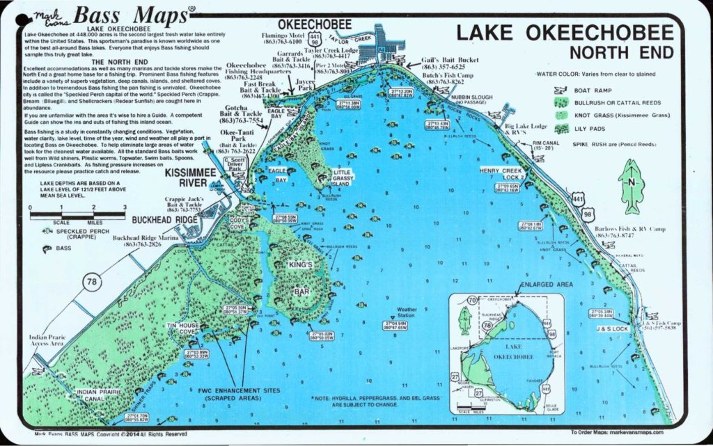 North End Map of Lake Okeechobee